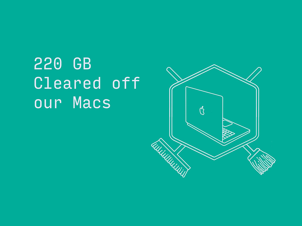 220 GB cleared off our Macs