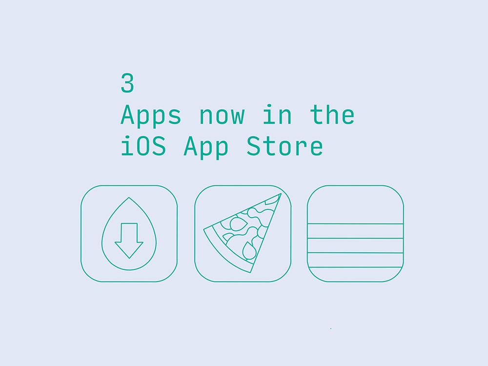 3 apps now in the iOS App Store
