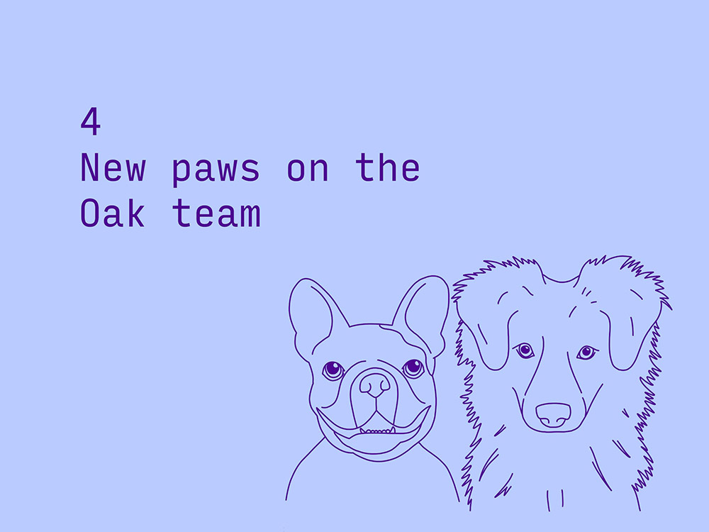 4 new paws on the Oak team