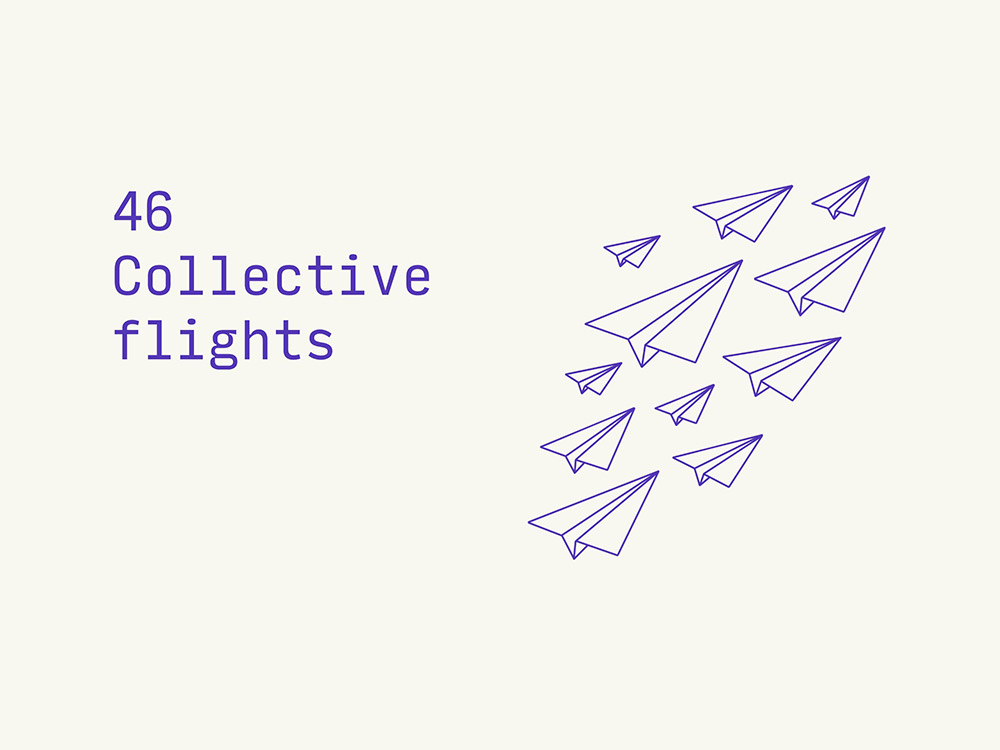 46 collective flights