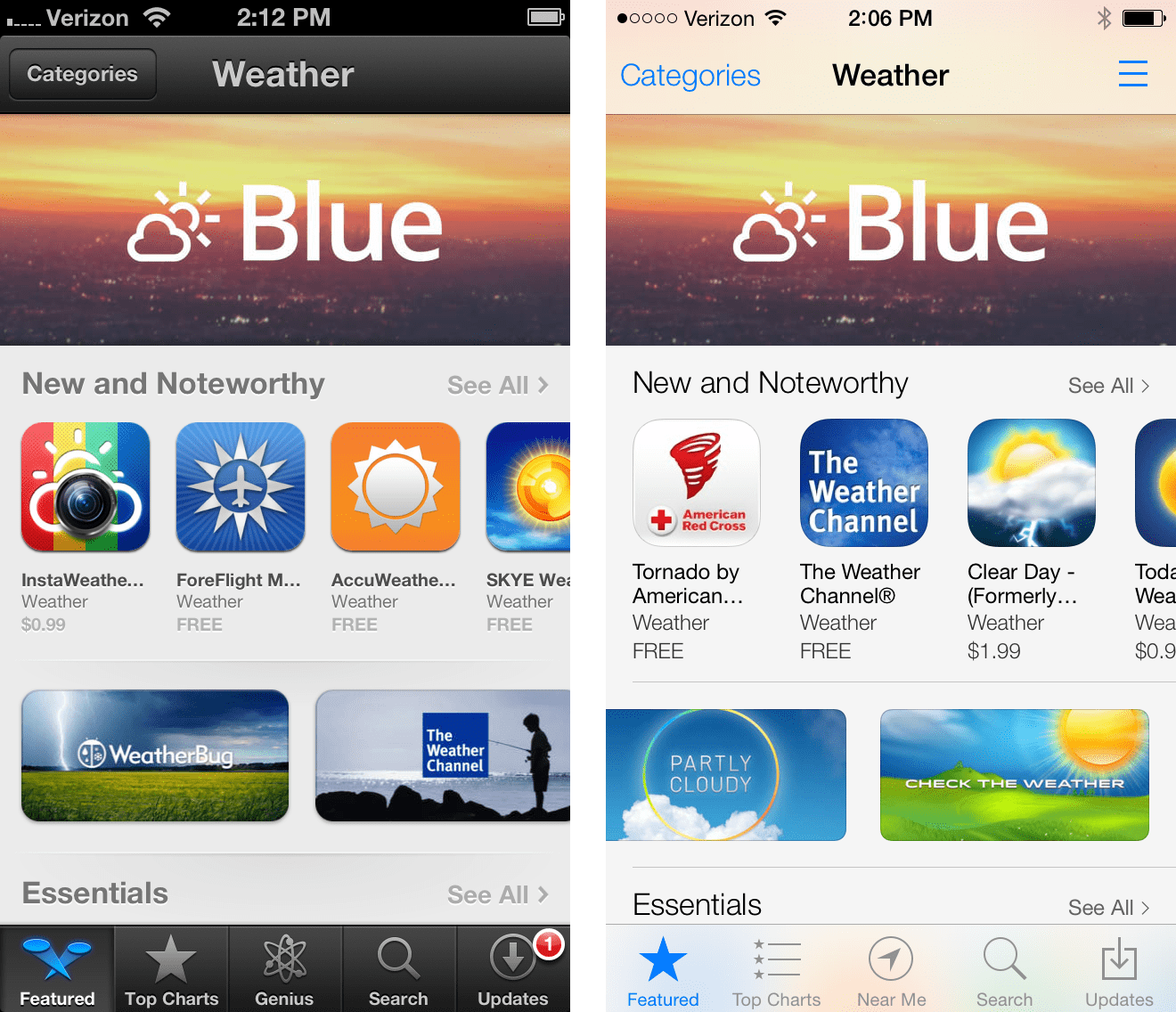 Blue featured in the App Store