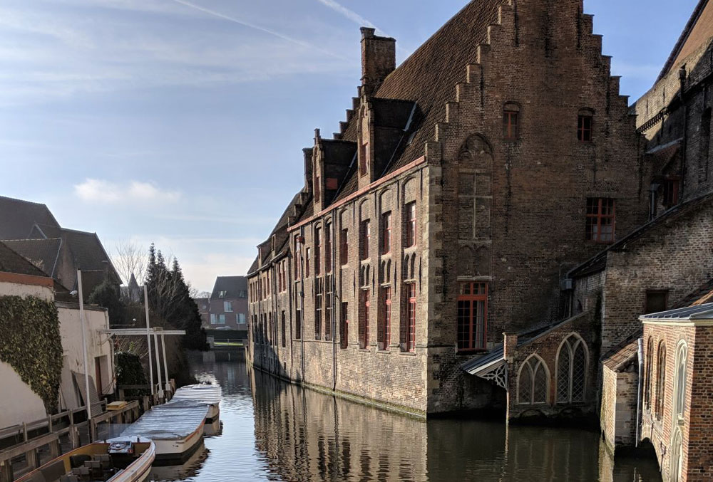 Canal views in Bruges
