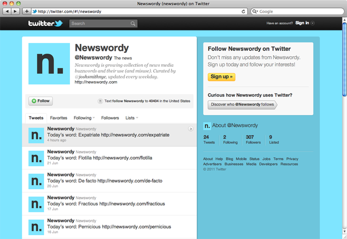 @Newswordy on Twitter in a cool shade of expatriate